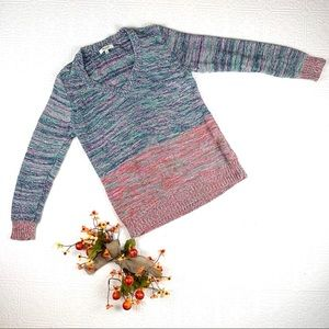 🌞 Madewell Multicolor V Neck Sweater SZ M